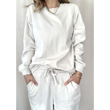 Bonnie Sweatshirt Lounge Set - Bone