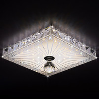 Square Crystal Ceiling Lights Balcony/Hallway Lighting 12W Recessed/Surface Mounted Led Ceiling Lamps Ac 100-240V19X19Cm