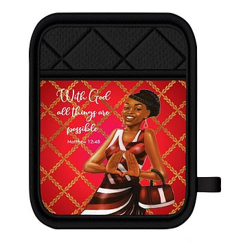 Delta Red/White Oven Mitt Pot Holder Set