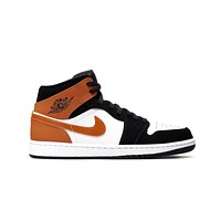 Air Jordan Men's 1 I Mid Shattered Backboard Starfish Black