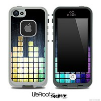 Colorful Wood Equalizer Skin for the iPhone 5 or 4/4s LifeProof Case