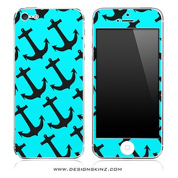 Turquoise Anchor Bundle iPhone Skin