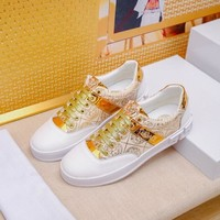 Versace White Gold Sneakers - Best Deal Online