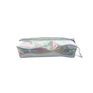 Rectangular laser pencil box Harajuku laser cosmetic bag student pencil case