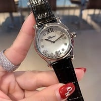 Chopard Fashion Quartz Classic Watch Round Ladies Women Men wristwatch On Sales Jovia