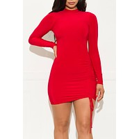 Get To Know Me Dress Red