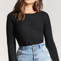 High-Low Ribbed Sweater