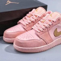 WMNS Air Jordan 1 Low Pink Sneaker DCCK
