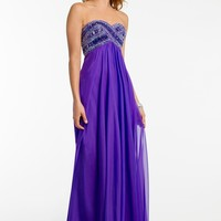 Strapless Beaded Empire Dress from Camille La Vie and Group USA