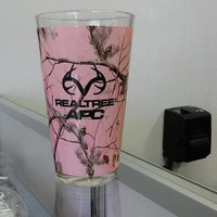 RealTree Camouflage 16oz Pink Sublimated Pint Glass