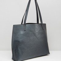 ASOS Curved Tote Shopper Bag With Removable Clutch