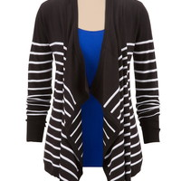 Textured Stripe Waterfall cardiwrap