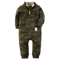 Carter's Camo French Terry Coverall - Baby