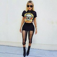 GUN N ROSES CROP TOP SHIRT