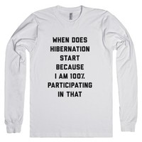 Hibernation-Unisex White T-Shirt