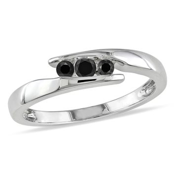 Black Diamond Fashion Ring in Sterling Silver