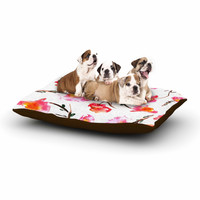 "Danii Pollehn ""Springflower"" Pink Painting Dog Bed"