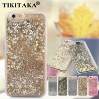 "Luxury Twinkle Glitter Stars Flowing Water Liquid Case For iPhone 5 5S SE 6 6S 4.7""/ 6S Plus 5.5"" Clear Quicksand Plastic Covers"