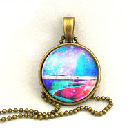 10% SALE Necklace Shining Galaxy Lake Pendant Necklaces Constellation,Gift For Her