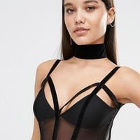 Missguided Velvet Choker at asos.com