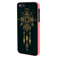 Dream Catcher Cosmic Gold iPhone 5 Case Framed Pink
