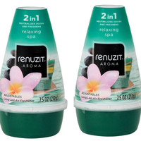 Renuzit Adjustables Air Freshener, Relaxing Spa, 2 Count, 7.5 Ounce