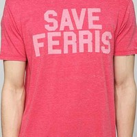 Save Ferris Burnout Tee- Red