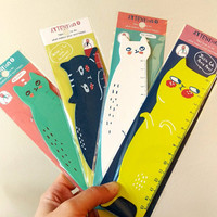 Kawaii Cat Ruler 15cm Wooden, Stationary Writing School Supplies, Simply Adorable