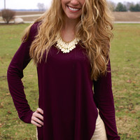One Day At A Time Top: Plum