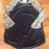 Burnout with Leopard Sleeves (white or black body)