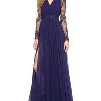 Vakind® Women Long Sleeve Bodycon Evening Party Lace Formal Cocktail Maxi Dress (L=US10)