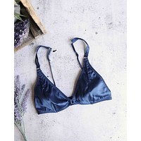 Free People - Can't Stop Me Soft Bra in Navy