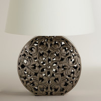 Zinc Medallion Table Lamp Base - World Market