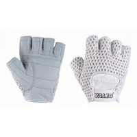 Women's Lifting Gloves with Genuine Leather and Cotton Meshback (Large)
