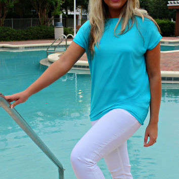 Piko: Knitted Blouse, Blue
