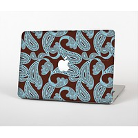 """The Blue and Brown Paisley Pattern V4 Skin for the Apple MacBook Air 13"""""""