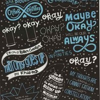 The Fault in Our Stars Movie Quotes Poster 22x34