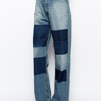 Cheap Monday Patched Omega Boyfriend Jeans