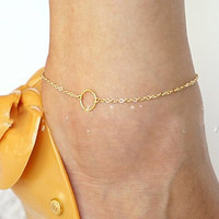 Sexy New Arrival Jewelry Stylish Gift Cute Ladies Shiny Accessory Simple Anklet [4918825476]
