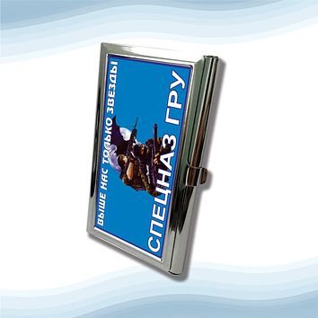 GRU Above Only Stars Russian Intelligence  Metal Business Cardholder