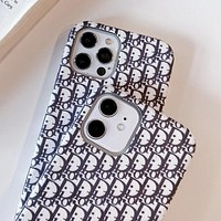 Dior iPhone12promax mobile phone case superfiber plush Apple 11 protective cover xs protective shell