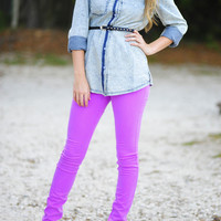 Revolve Around Me Pants: Neon Orchid   Hope's