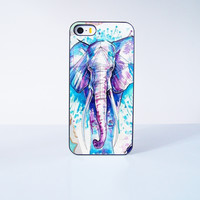 2015 Fahion Painting Elephant Plastic Case Cover for Apple iPhone 5s 5 6 Plus 6 4 4s  5c