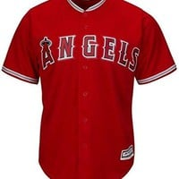 Los Angeles Angels MLB Mens Majestic Cool Base Replica Red Jersey Big & Tall Sizes