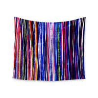 "Frederic Levy-Hadida ""Fancy Stripes Purple"" Wall Tapestry"