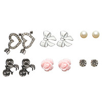 Bicycle & Other Button Earrings | Wet Seal