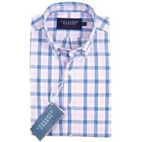 The Mooreland Button Down Shirt Navy/Pink/White
