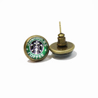 Starbucks Coffee Graphic Earrings