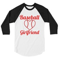 Baseball Girlfriend 3/4 sleeve raglan shirt