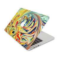 Psychedelic Yellow Mashed With Red and Navy Skin for the Apple MacBook
